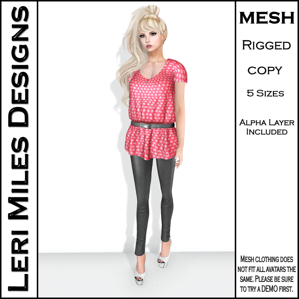 LMD Ad Stacy Blouse & Leggings Coral_Silver