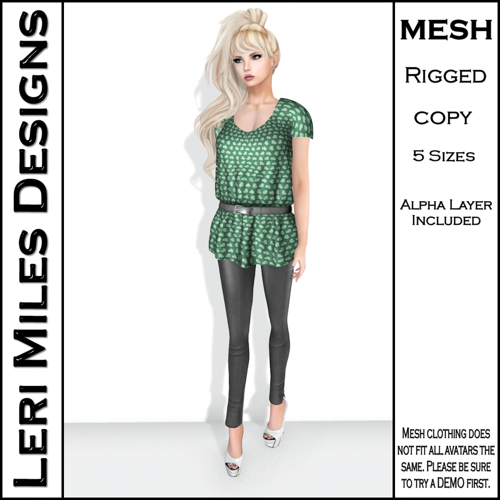 LMD Ad Stacy Blouse & Leggings Green_Silver