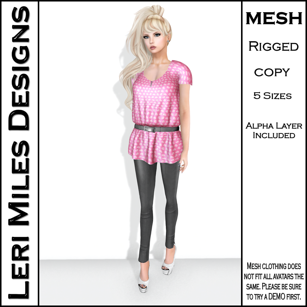 LMD Ad Stacy Blouse & Leggings Pink_Silver