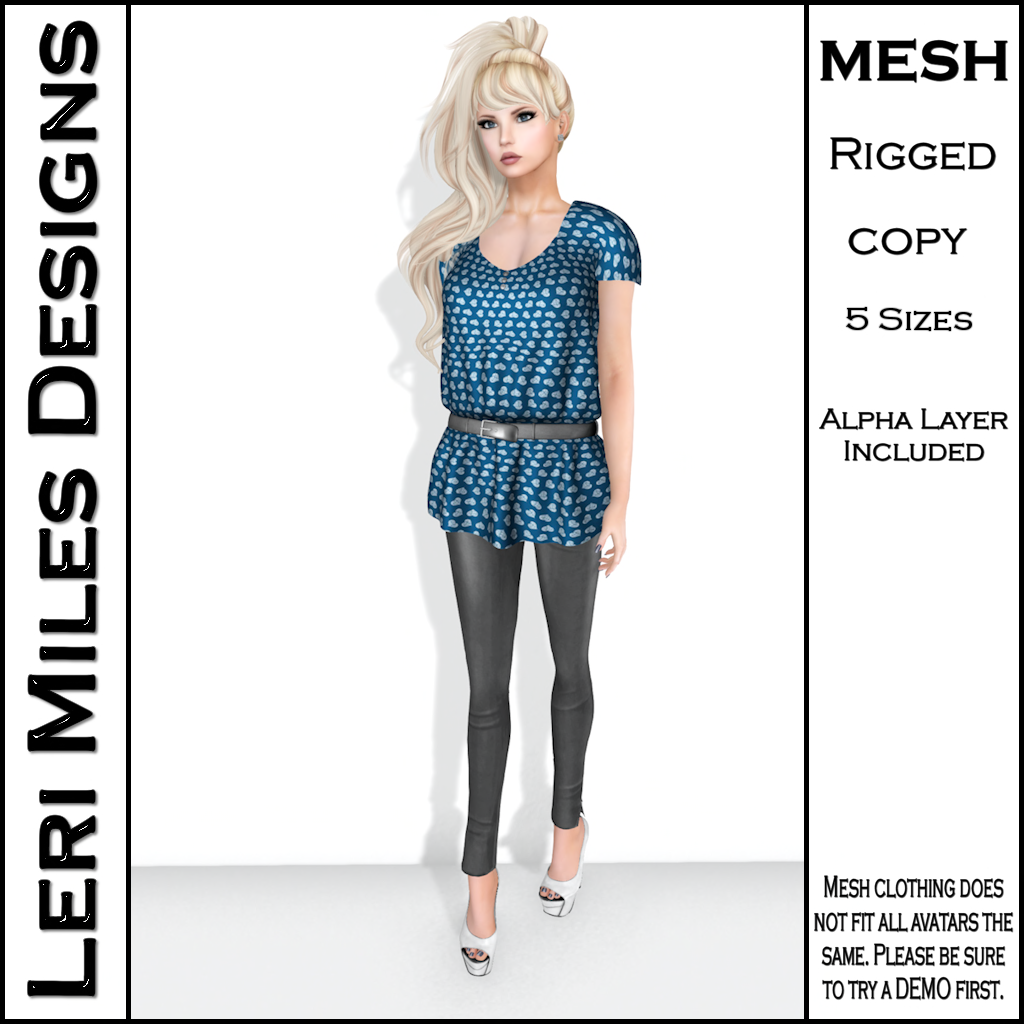 LMD Ad Stacy Blouse & Leggings Teal_Silver