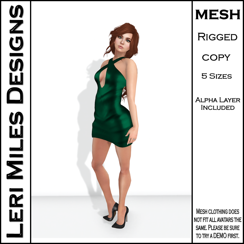 LMD Ad MP Ice Dress Emerald