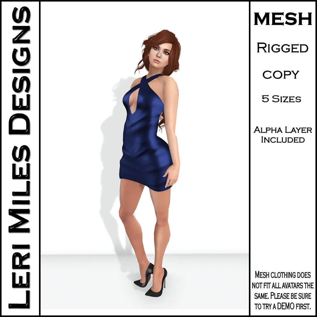 LMD Ad MP Ice Dress Sapphire