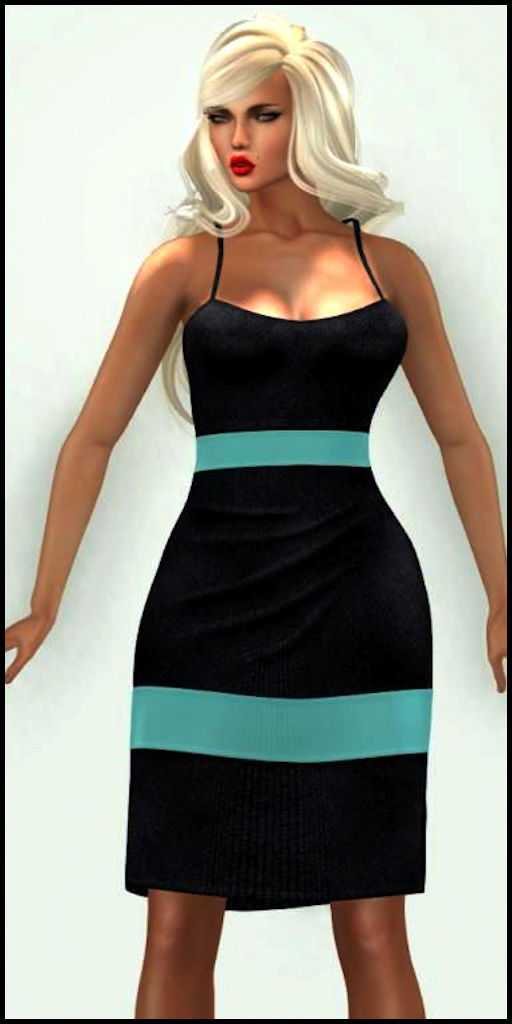 LMD Ad Vendor Jossi Dress Aqua