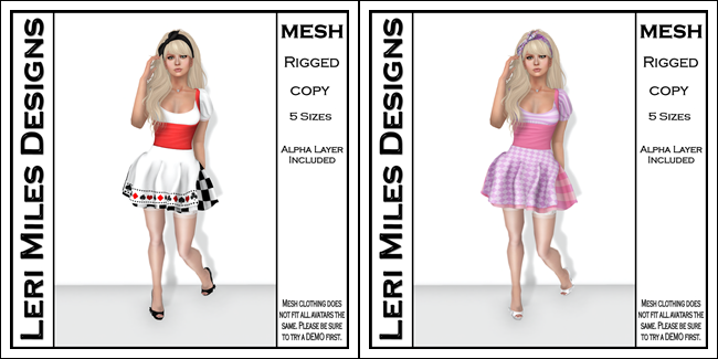 LMD Alice Dress in Checkered Red and Cheshire Cat