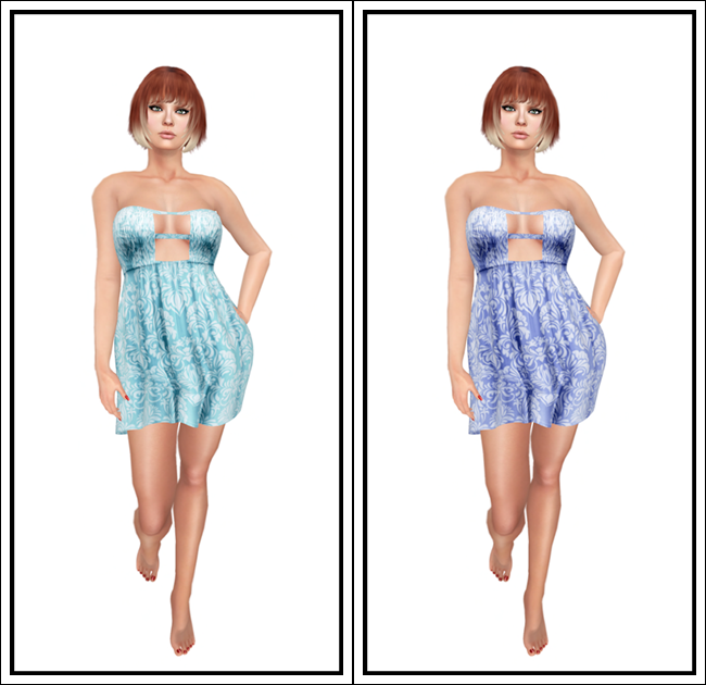 Andi Dress in Aqua and Blue