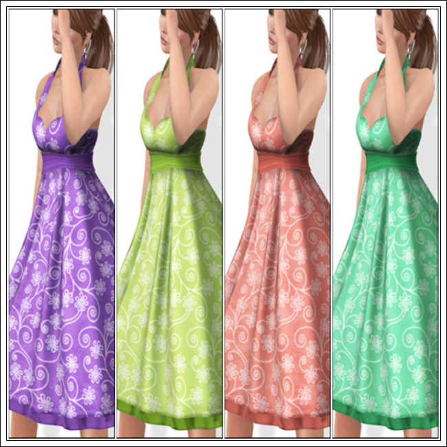 Joanie Dress in Grape, Lime, Melon and Mint
