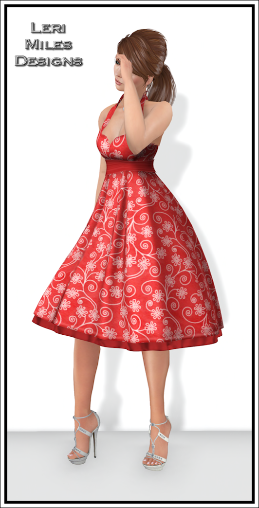 LMD Ad Display Joanie Dress Strawberry