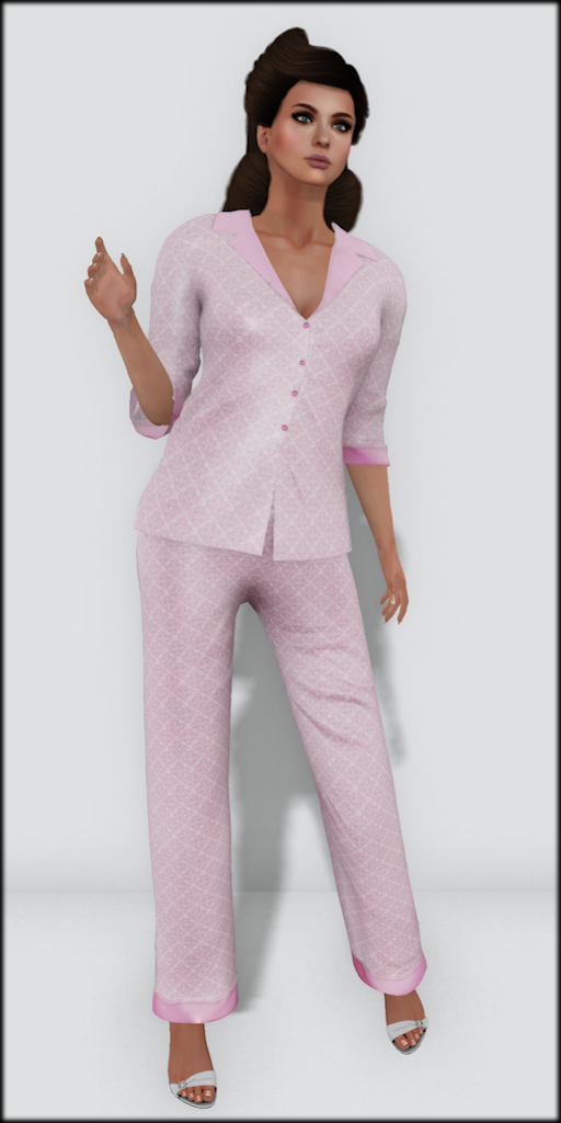 LMD Vendor Hayworth Silk PJ's Blush