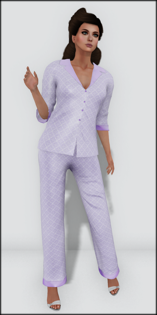 LMD Vendor Hayworth Silk PJ's Lilac
