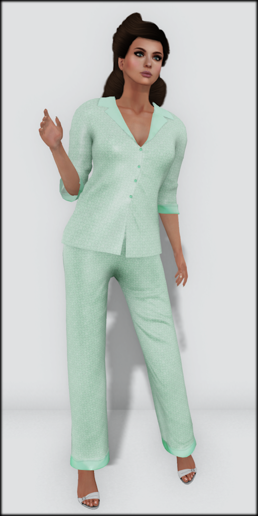 LMD Vendor Hayworth Silk PJ's Mint
