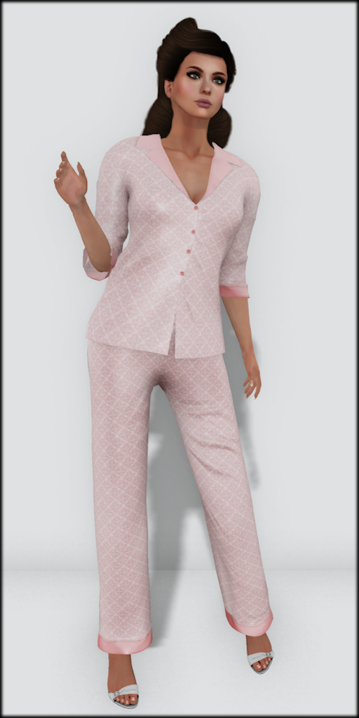 LMD Vendor Hayworth Silk PJ's Rose