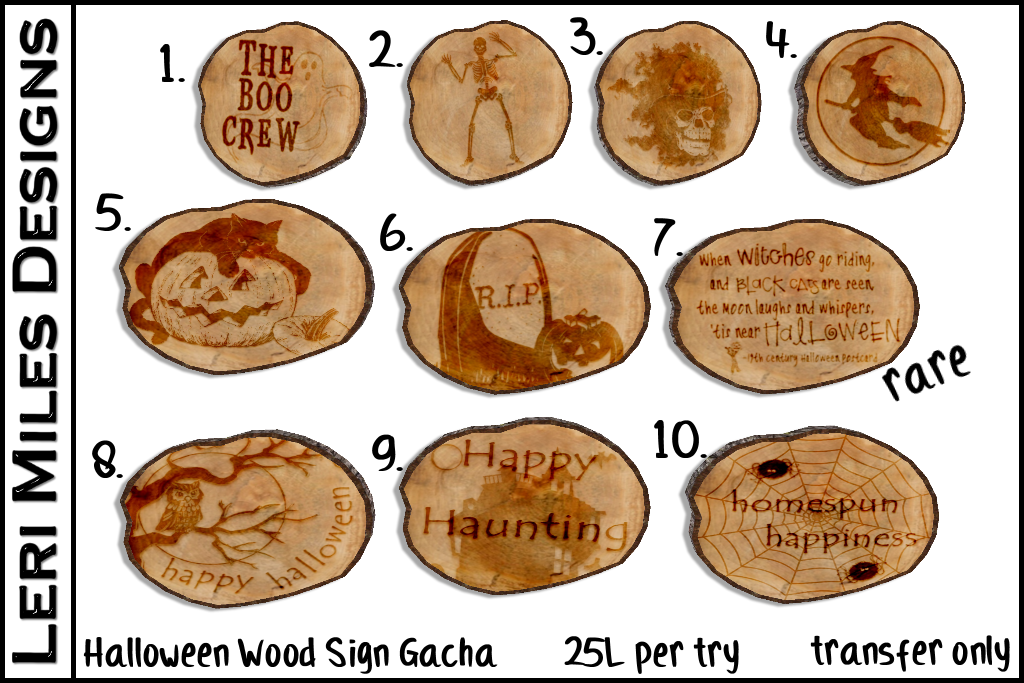 LMD Ad Display Gacha Halloween Wood Sign