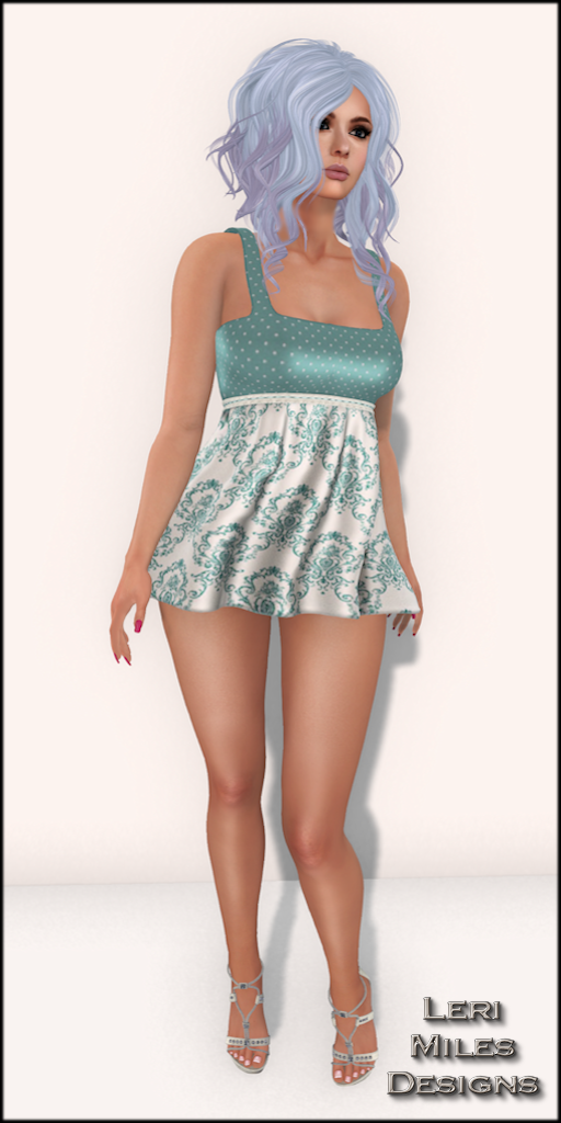 LMD Ad Display Patty Dress Aqua