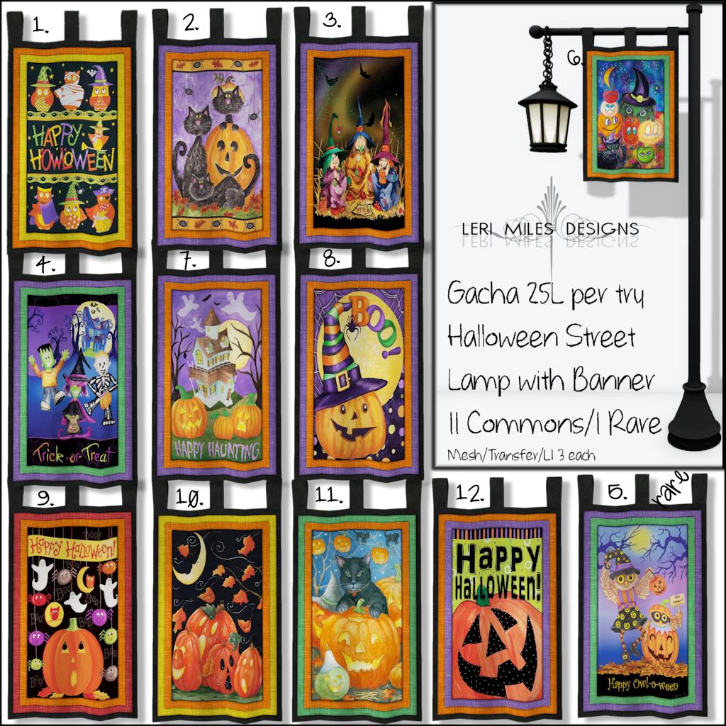 LMD Gacha Halloween Street Lamp Banner Key